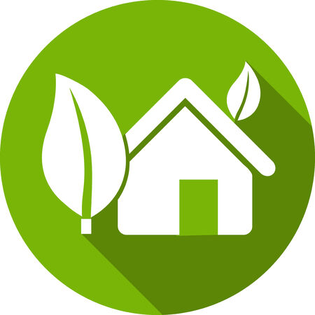 Ecology Flat Icon with shadow. Vector EPS 10. Reklamní fotografie - 27290141