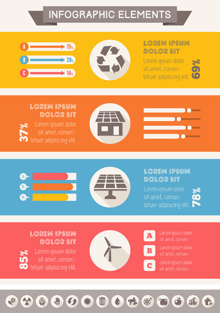 Flat Infographic Elements. Opportunity to Highlight any Country on the World Map. Vector