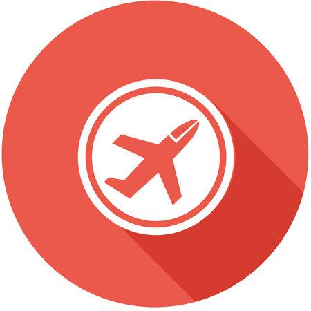Travel Flat Icon with Shadow   Ilustração
