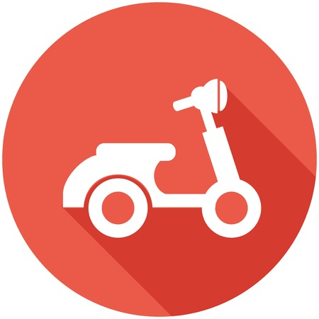 Travel Flat Icon with Shadow. Vector Pictogram. Ilustracja