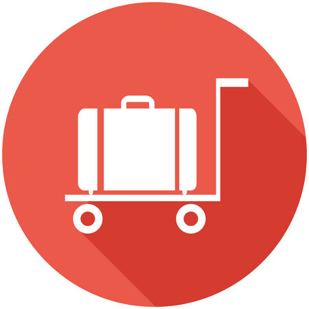 Travel Flat Icon with Shadow. Vector Pictogram. Иллюстрация