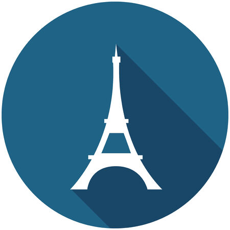 Travel Flat Icon with Shadow   Ilustracja