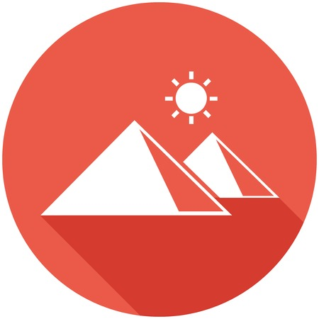 med: Travel Flat Icon with Shadow. Vector Pictogram.  Illustration