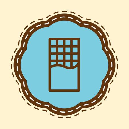 Chocolate Bar plat Icône Banque d'images - 27536176