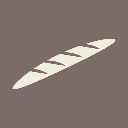 crusty: Bread Flat Icon
