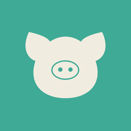 Pig Flat Icon Vector