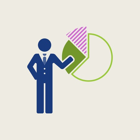 pictorial  representation: Business Flat Icon. Vector Pictogram. EPS 10.
