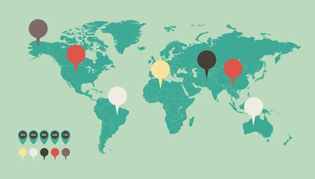 map pin: Infographic Element Map. Opportunity to Highlight Any Country. Vector. Illustration