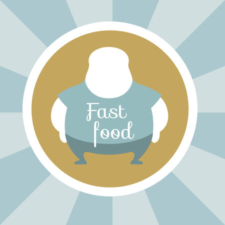 Flat Design. Fast Food Illustration.  Çizim