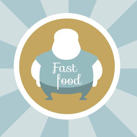 Flat Design. Fast Food Illustration.  Illustration