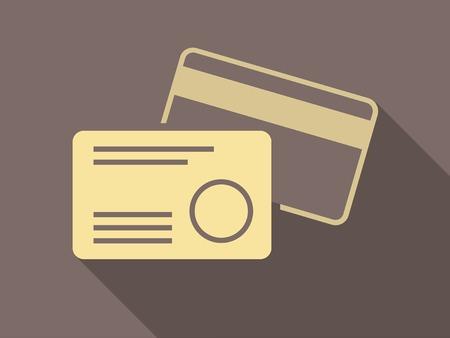 Flat Design. Credit Cards.