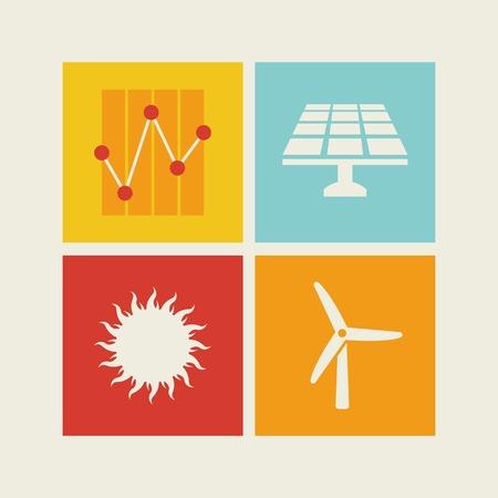 wind energy: Flat Design Infographic Elements.