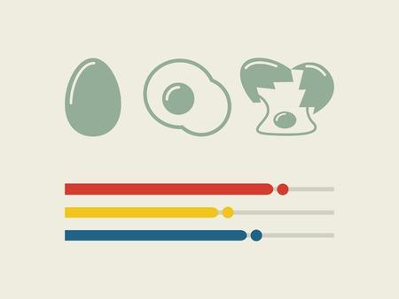 Dessin plat Infographie Éléments alimentaire. Banque d'images - 27986425