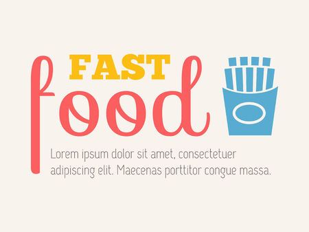 processed food: Flat Design Infographic Elements.