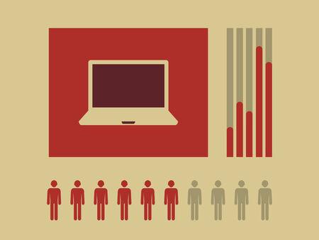 Flat Design Technology Infographic Elements.  Illustration