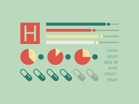 Flat Design Medical Infographic Elements. Vector