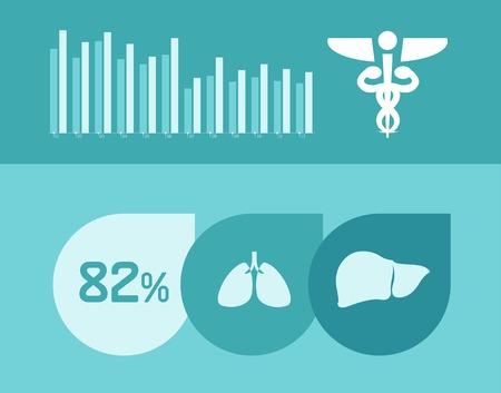 Flat Design Medical Infographic Elements.