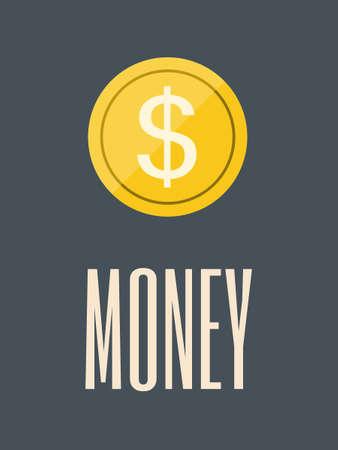geld: Flat Design. Geld.