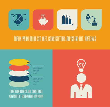 economist: Flat Design Infographic Elements. Illustration
