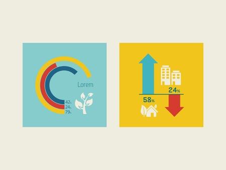 Flat Design Infographic Elementen. Stock Illustratie