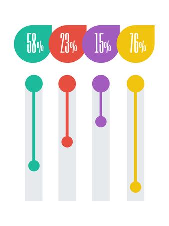 Flat Design Infographic Elements.