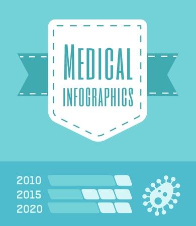 Flat Design Medical Infographic Elements.  向量圖像