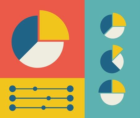 Flat Design Infographic Elements. 向量圖像