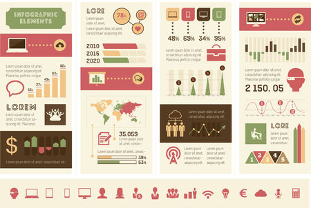 Flat Design Technology Infographic Elements plus Icon Set.