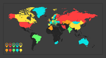 opportunity: Infographic Element Map  Opportunity to Highlight Any Country   Illustration