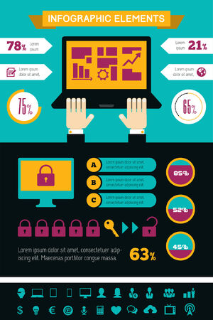 opportunity: IT Industry Infographic Elements. Opportunity to Highlight any Country.