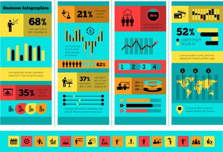 plus icon: Flat Business Infographic Elements plus Icon Set. Vector.