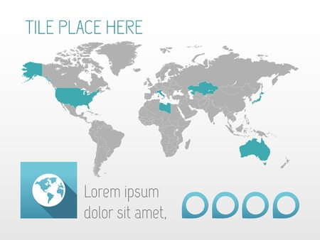 country: Infographic Element Map. Opportunity to Highlight Any Country. Vector. Illustration