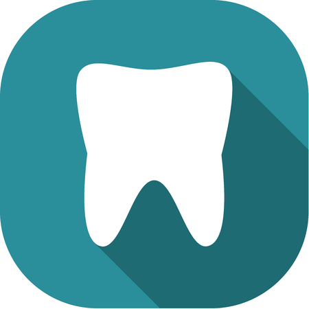 med: Dental Flat Icon Pictogram.