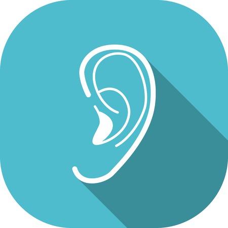 auditory: Medical Flat Icon Pictogram.