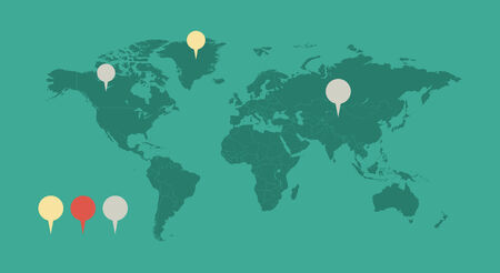 opportunity: Infographic Element Map. Opportunity to Highlight Any Country.  Illustration