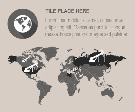Infographic Element Map. Opportunity to Highlight Any Country.  Vector