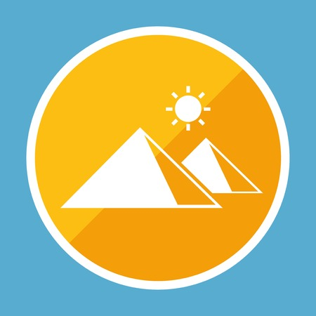 Travel Flat Icon with Shadow. Vector Pictogram. Vettoriali