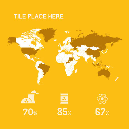 Infographic Element Map Vector
