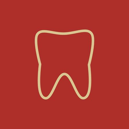 Dental Flat Icon  Vector Pictogram