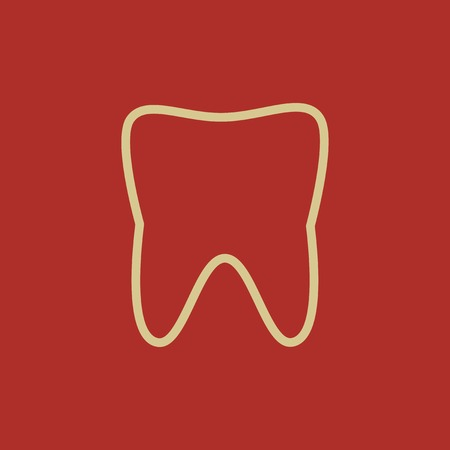 med: Dental Flat Icon  Vector Pictogram