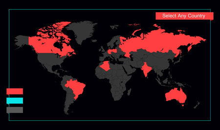 Infographic Element Map  Opportunity to Highlight Any Country   Vector
