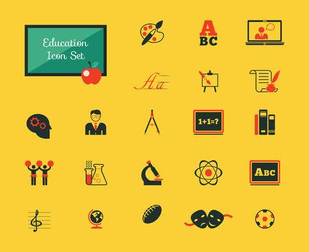 plus icon: Education Infographic Elements plus Icon Set.  Illustration