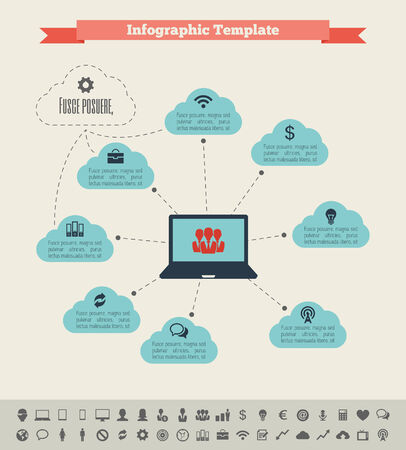 IT Industry Infographic Elements. Opportunity to Highlight any Country.