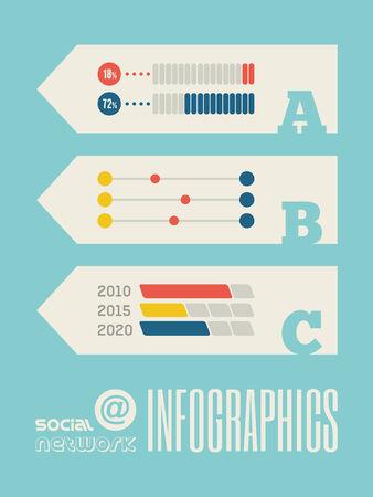 representations: Technology Flat Infographic Element Graphics