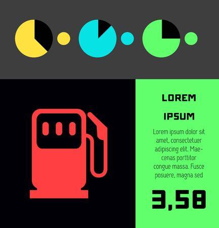 Transportation Flat Infographic Element Graphics  Illustration