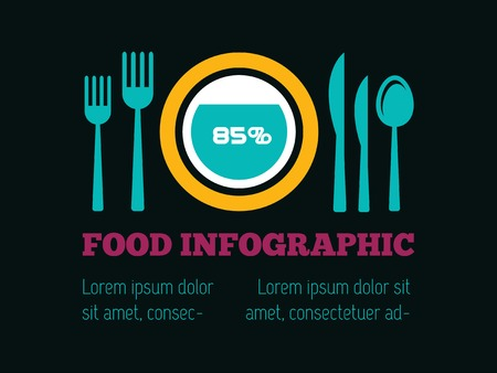 Food Flat Infographic Element Graphics  Illusztráció
