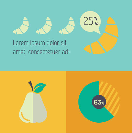 Food Flat Infographic Element Graphics  Illustration