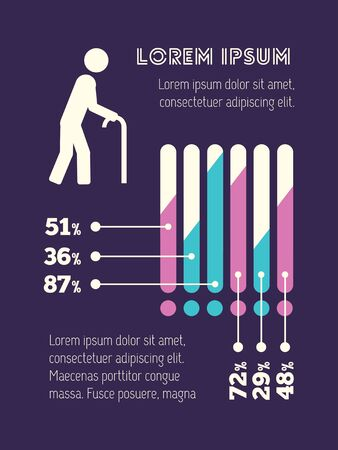 ageing: Medical Flat Infographic Element Graphics  Illustration