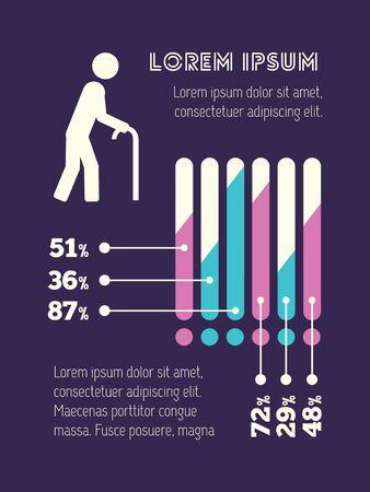 Medical Flat Infographic Element Graphics  Illustration