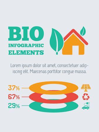 Ecology Flat Infographic Element Graphics  向量圖像